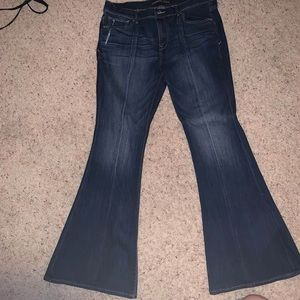 Express bell flare mid rise jeans! 12s